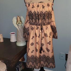 Lane Bryant On/Off Shoulder Lace Print Dress 14/16